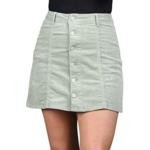 Black Label Green Corduroy Skirt NWT